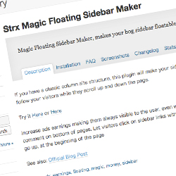 Strx Magic Floating Sidebar Maker