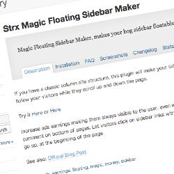 Strx Magic Floating Sidebar Maker