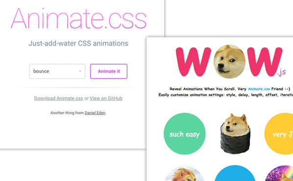 Animate.css WOW.js