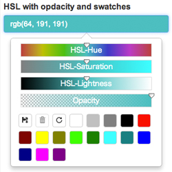 Bootstrap Color Picker Sliders