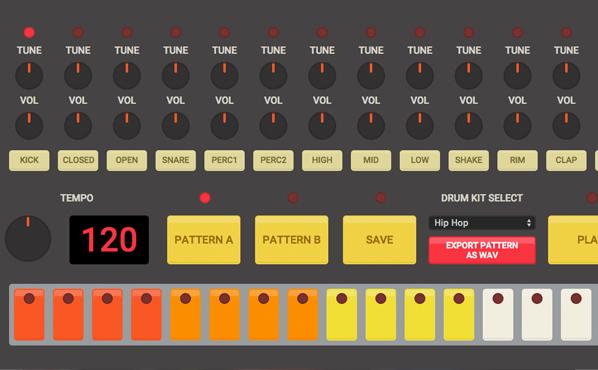 HTML5 ドラムマシン